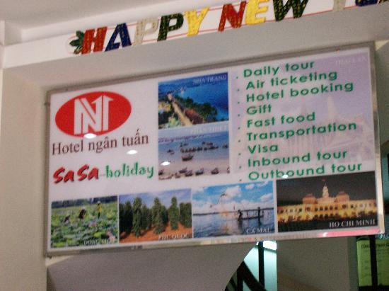 Ngan Tuan Hotel entry way, street view