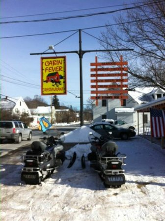 Cabin Fever: We arrived on snowmobile, but on main st Bartlett
