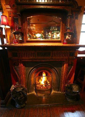 The Dail Bar: The large cosy open fire