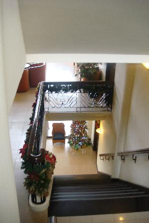 Hotel Fleuris: the stairs