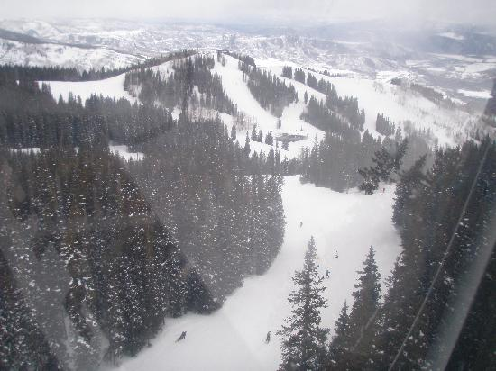 Silver Queen Gondola: view from inside