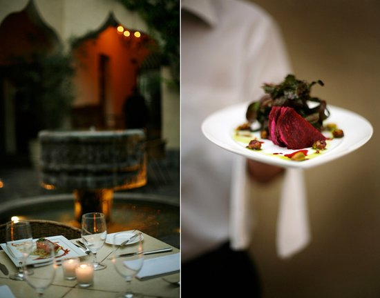 The Restaurant: Beet and goat cheese Salad
