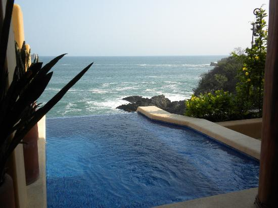 Capella Ixtapa: View from the private pool in our room