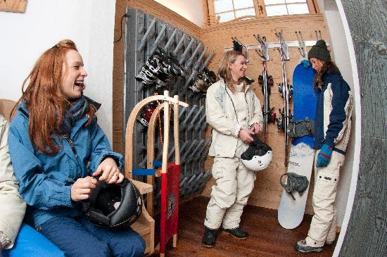 Hotel Pontejel: Deposito sci con scaldascarponi