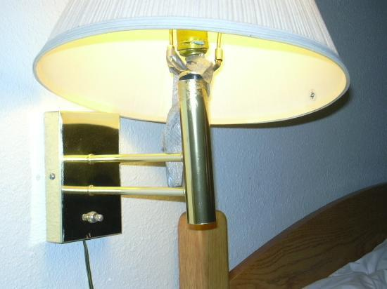 SeaTac Crest Motor Inn: lamp with ducktape holding it together - kind of...