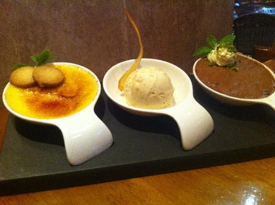 Tuscany Bistro Castletroy: Trio of desserts
