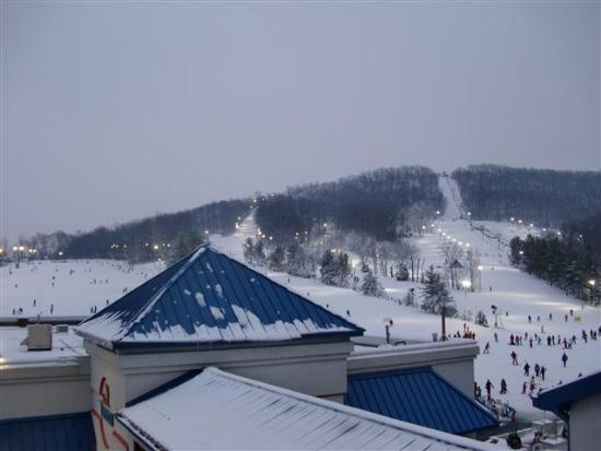 Liberty Mountain Resort: Evening view out of our room