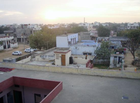 Hotel Fly View: sunset over Jaipur