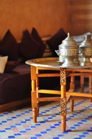 Kasbah Le Mirage: Cute little tea lounge area