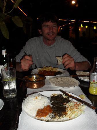 Colonia Santa Maria (CSM): eating in the restaurant.