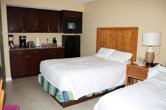 Elysian Beach Resort  Double bedroom with sink  micro   fridge. Double bedroom with sink  micro   fridge   Picture of Elysian