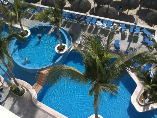 Oceano Palace: view of pool from our balcony!