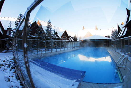 Mystic Springs Chalets & Hot Pools : Year Round Heated Pool