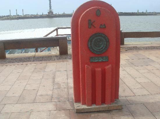Recife, PE: Plaza de Marco Zero - Km Zero