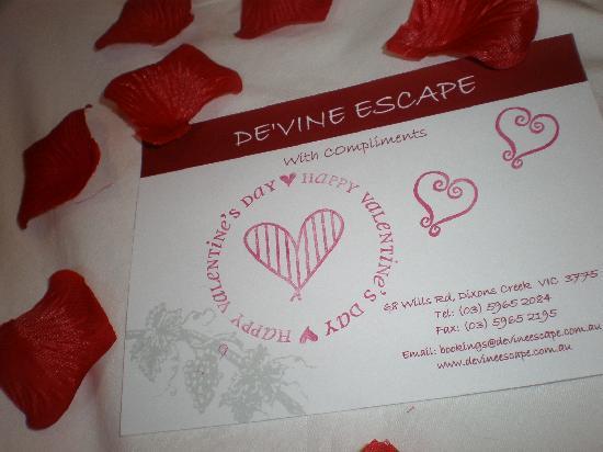De'Vine Escape: Little things that mean a lot!  x