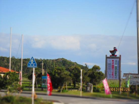 Road Station Yuiyui Kunigami: ヤンバルクイナの看板
