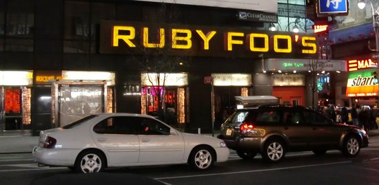 Ruby Foo's: Very dark inside, take a torch