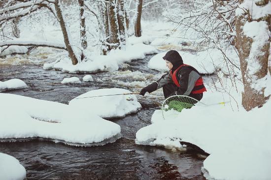 Laukaa, ฟินแลนด์: Рыбалка в усадьбе
