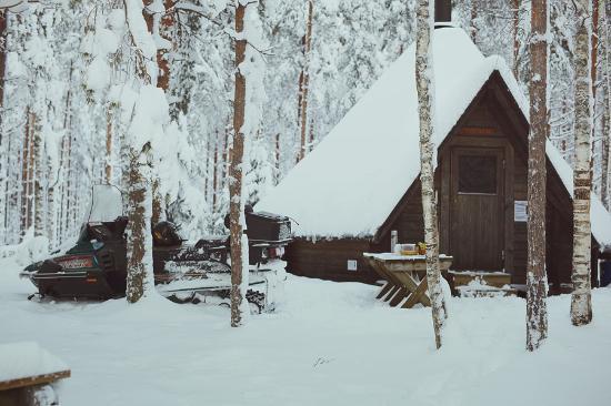 Laukaa, ฟินแลนด์: Катание на снегоходах