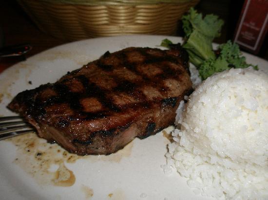 Outrigger Guam Beach Resort: ローンスターのステーキです