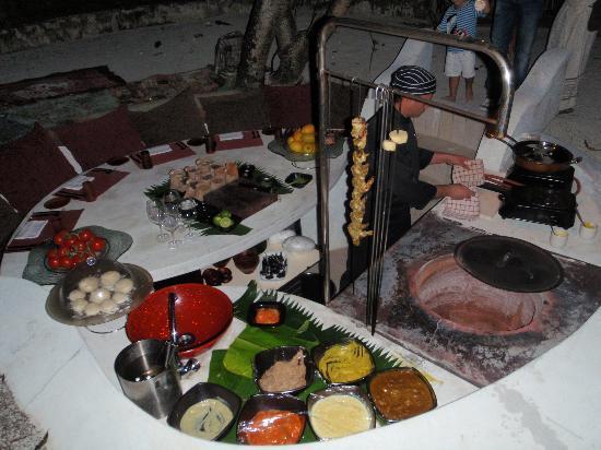 Huvafen Fushi Maldives: le dîner indien