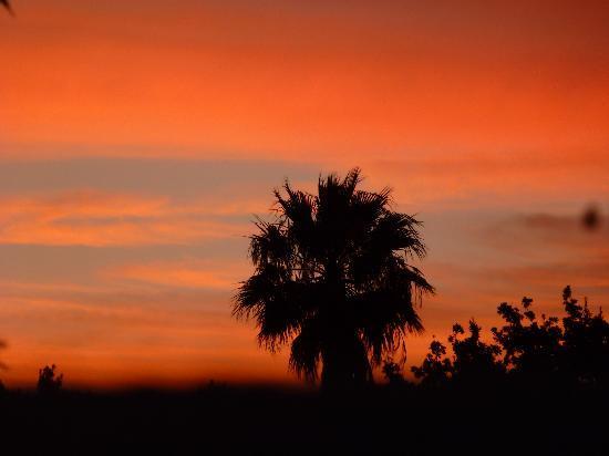 Marula Lodge: Sonnenuntergang in Swellendam