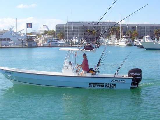 """Custom Charters: """"Stepping Razor""""  27ft center console."""