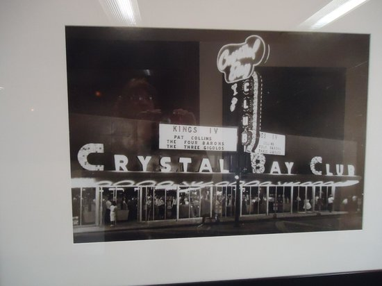 Crystal Bay Club Casino: one of the historic photos on wall
