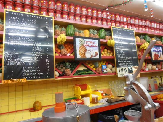 Hotel Juarez : Les délicieux jus de fruit à proximité