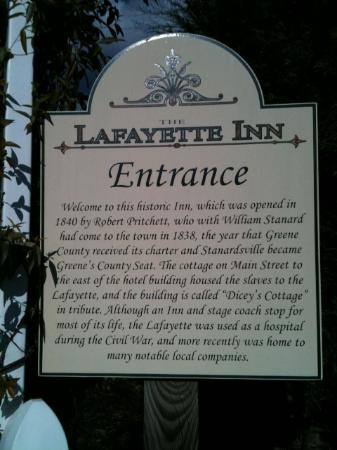 Lafayette Inn & Restaurant: A Welcome Place