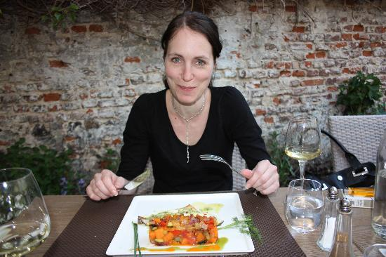 Maree enjoying her food picture of le patio restaurant montreuil sur mer tripadvisor - Restaurant le patio montreuil sur mer ...