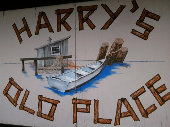 Harry's Old Place: Harry's sign