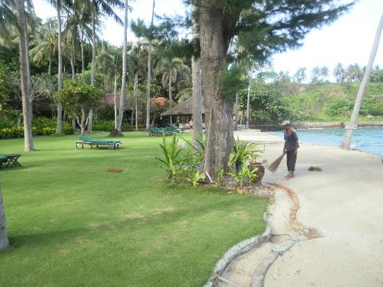 Alang-Alang Boutique Beach Hotel: beach directly in front of villa
