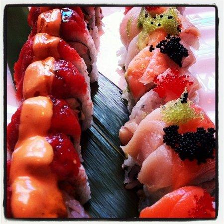 Love Boat Sushi: spicy tuna and hawaiian with soft shell crab