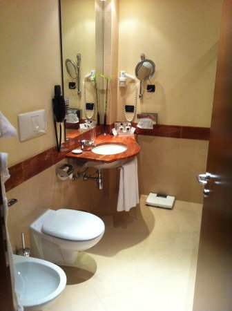 Crowne Plaza Milan - Malpensa Airport: Clean well lit bathroom