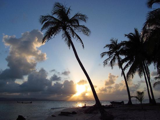 Ina Cabins : Sunset Looking Toward the Mainland