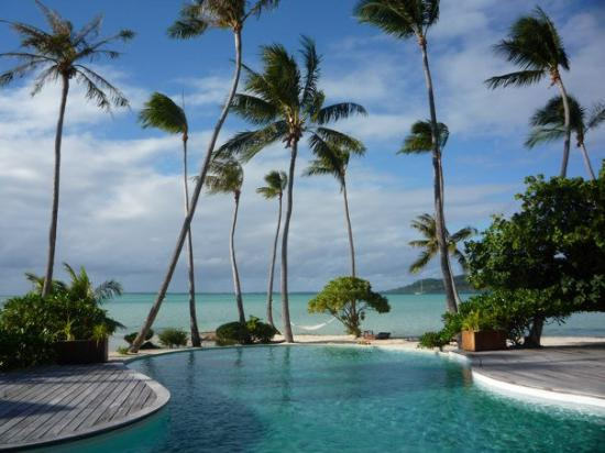 Tahaa, Polinesia francese: Pool view