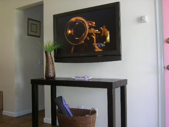 Beach House Inn & Apartments: Flat Panel TV in Studio