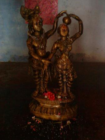 Parijaat Tree: Radha Krishna  idol  in  kunteswar  premises