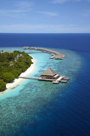 Dusit Thani Maldives: Aerial view of Benjarong
