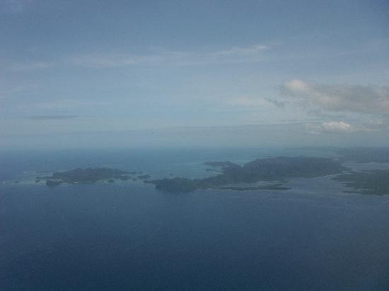 The Boardwalk at Cloud 9: Island from plane