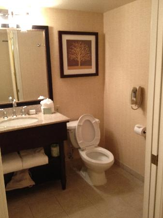DoubleTree by Hilton Modesto: Room 910 Bathroom