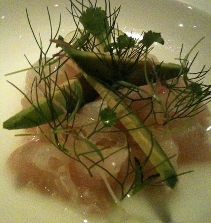 Pujol : Sea bass with avocado