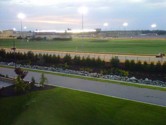 The Inn at Charles Town: View from room overlooking track