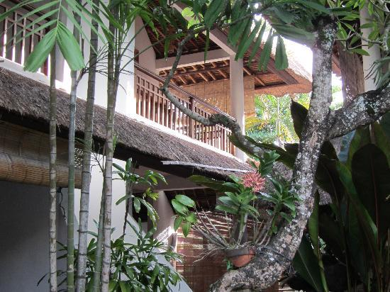 Sativa Sanur Cottages: Our room balcony from the pool