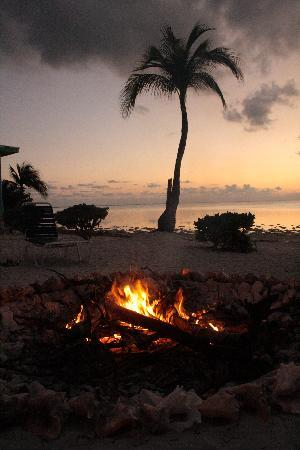 Sunset Cove: Bonfire on the beach