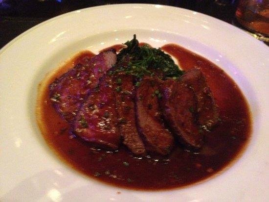 The Majestic : venison steak
