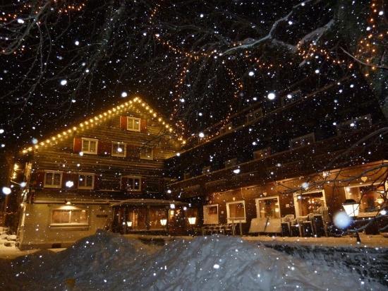 Familotel Krone: Blitzende Schneeflocken