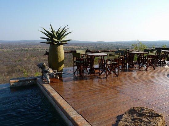 Bushwa Private Game Lodges : Ausblick vom Haupthaus