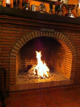 Venta Del Golf: Lovely log fire for those winters nights